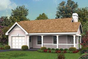 Cottage Exterior - Front Elevation Plan #57-347