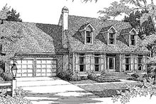 Country Exterior - Front Elevation Plan #41-129