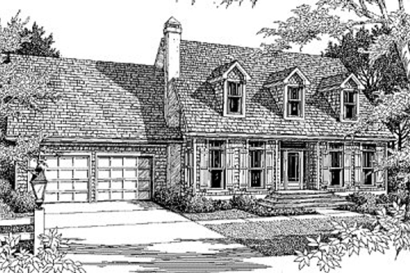 Country Exterior - Front Elevation Plan #41-129 - Houseplans.com