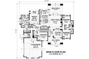 Craftsman Style House Plan - 4 Beds 3 Baths 2372 Sq/Ft Plan #51-572 Floor Plan - Main Floor Plan