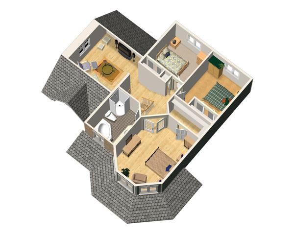 Victorian Floor Plan - Upper Floor Plan Plan #25-4700