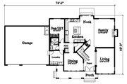 Craftsman Style House Plan - 3 Beds 3 Baths 3202 Sq/Ft Plan #78-217 Floor Plan - Main Floor