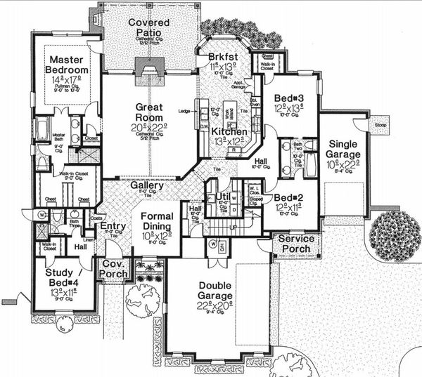 European Floor Plan - Main Floor Plan Plan #310-667