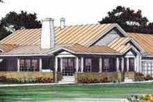 House Blueprint - Mediterranean Exterior - Front Elevation Plan #72-460