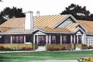 Architectural House Design - Mediterranean Exterior - Front Elevation Plan #72-460