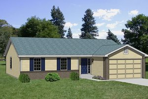 Ranch Exterior - Front Elevation Plan #116-176