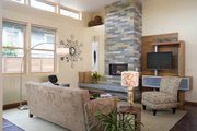 Modern Style House Plan - 3 Beds 2.5 Baths 2184 Sq/Ft Plan #48-530 Interior - Family Room