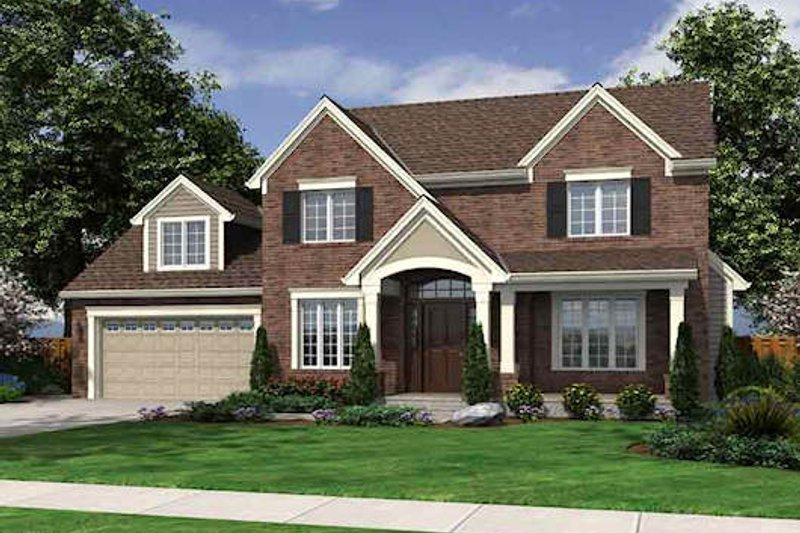 Dream House Plan - Traditional Exterior - Front Elevation Plan #46-475