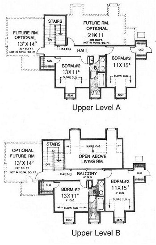 Country Floor Plan - Upper Floor Plan Plan #310-623