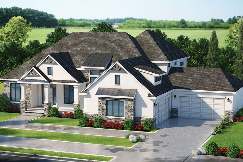 House Plan Design - Craftsman Exterior - Front Elevation Plan #20-2338