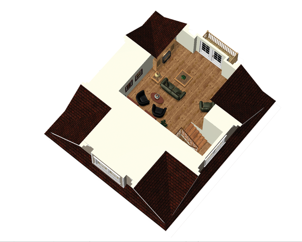 Country Floor Plan - Other Floor Plan Plan #25-4688
