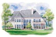 European Style House Plan - 3 Beds 3.5 Baths 3397 Sq/Ft Plan #20-1122 Exterior - Rear Elevation