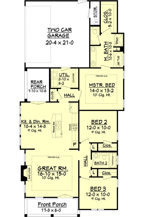 Cottage Floor Plan - Main Floor Plan Plan #430-114