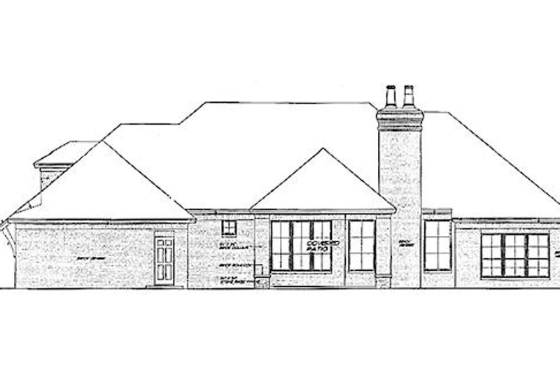 European Exterior - Rear Elevation Plan #310-965 - Houseplans.com