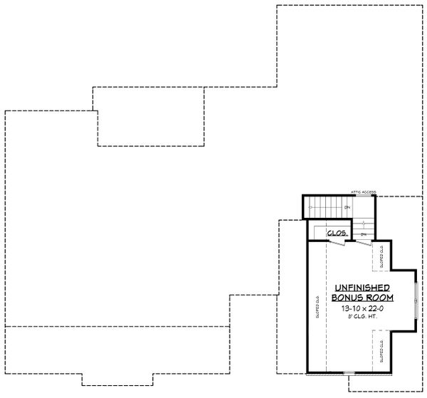 Country Floor Plan - Upper Floor Plan Plan #430-176