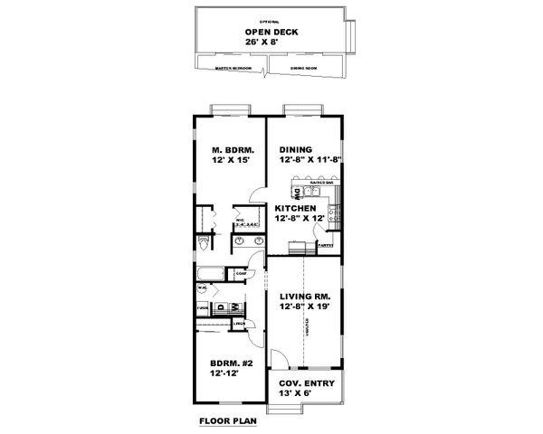 Bungalow Floor Plan - Main Floor Plan #117-909