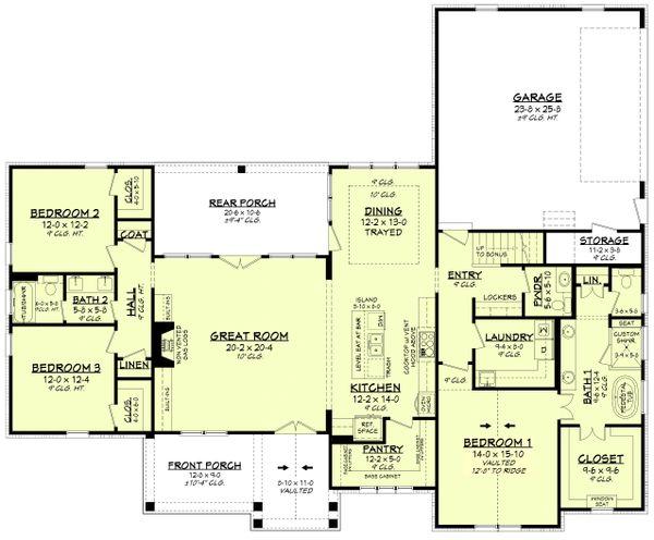 House Plan Design - Farmhouse Floor Plan - Main Floor Plan #430-233