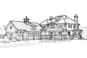 Craftsman Style House Plan - 3 Beds 3 Baths 3677 Sq/Ft Plan #928-7 Exterior - Front Elevation