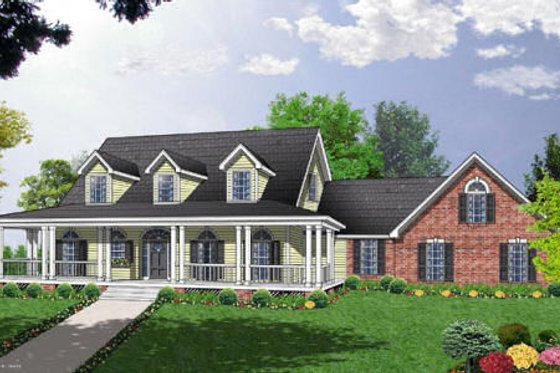 Country Exterior - Front Elevation Plan #40-131