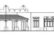 Adobe / Southwestern Style House Plan - 3 Beds 2.5 Baths 2226 Sq/Ft Plan #72-141 Exterior - Rear Elevation
