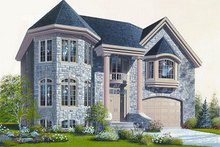 European Exterior - Front Elevation Plan #23-865