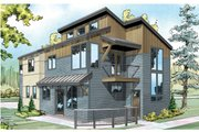Modern Style House Plan - 3 Beds 2.5 Baths 1888 Sq/Ft Plan #124-920 Exterior - Front Elevation
