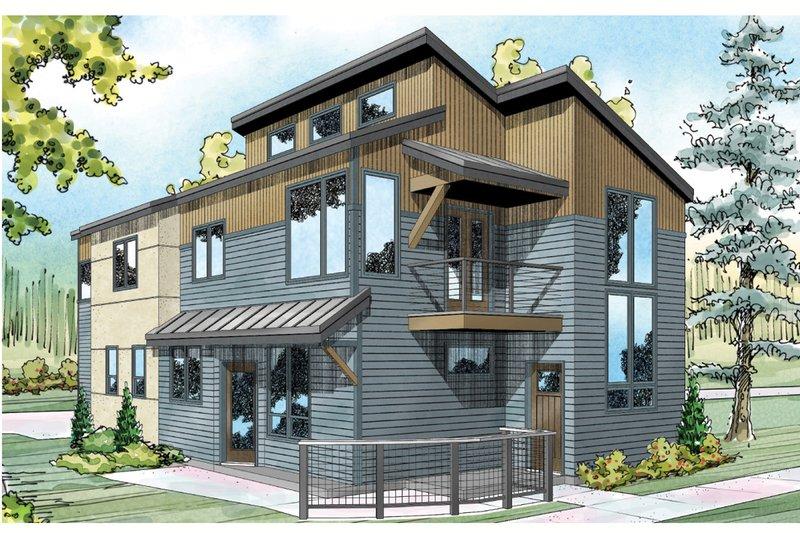 Home Plan - Modern Exterior - Front Elevation Plan #124-920