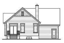 House Plan Design - Ranch Exterior - Rear Elevation Plan #23-2434