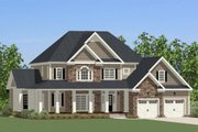 Traditional Style House Plan - 4 Beds 3.5 Baths 3609 Sq/Ft Plan #898-27 Exterior - Front Elevation