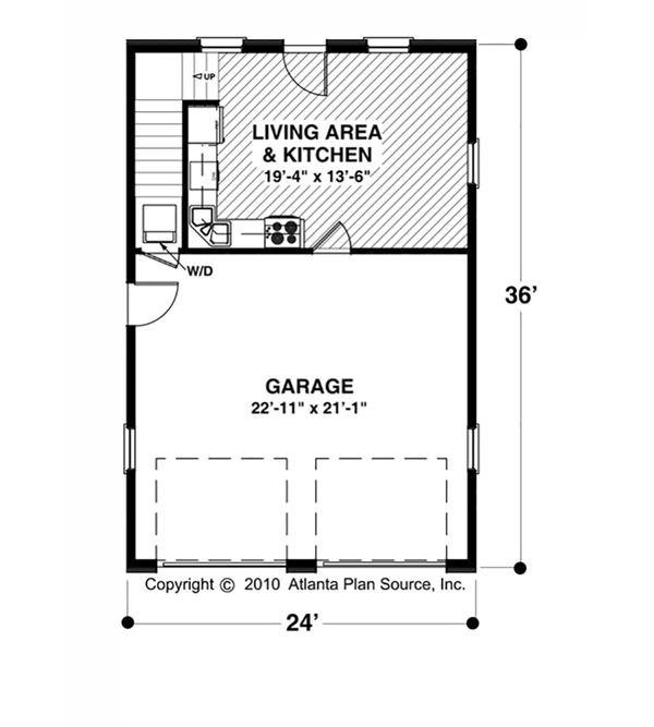 Craftsman Floor Plan - Main Floor Plan Plan #56-613