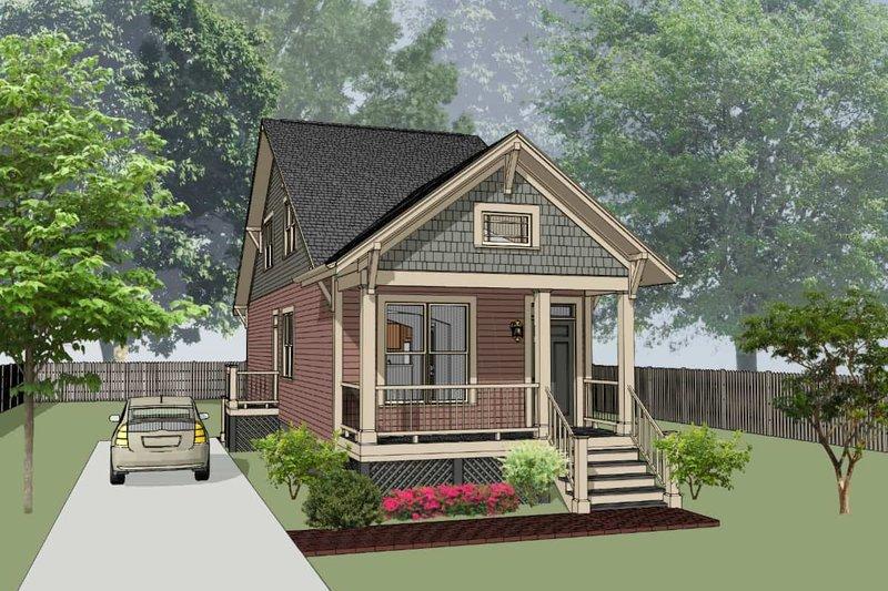 Home Plan - Bungalow Exterior - Front Elevation Plan #79-312