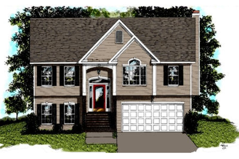 Traditional Style House Plan - 2 Beds 2 Baths 999 Sq/Ft Plan #56-102 Exterior - Front Elevation