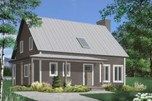 Home Plan - Country Exterior - Front Elevation Plan #23-2670
