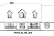 Country Style House Plan - 5 Beds 3 Baths 2747 Sq/Ft Plan #17-1161 Exterior - Other Elevation