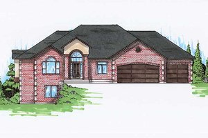Home Plan - Traditional Exterior - Front Elevation Plan #5-256