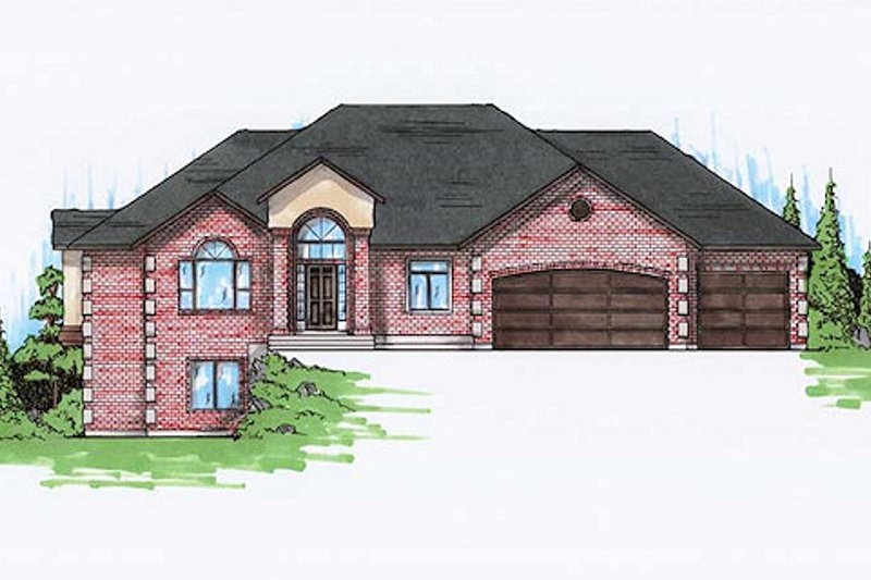 Architectural House Design - Traditional Exterior - Front Elevation Plan #5-256