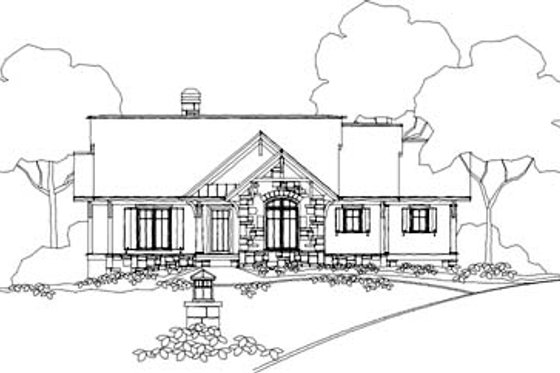 Traditional Exterior - Front Elevation Plan #71-126