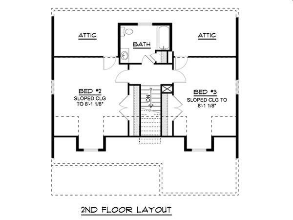 House Plan Design - Cottage Floor Plan - Upper Floor Plan #1064-22