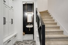 Architectural House Design - Powder Room/Stairs to Bonus Area