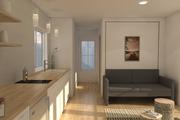 Modern Style House Plan - 1 Beds 1 Baths 312 Sq/Ft Plan #914-2