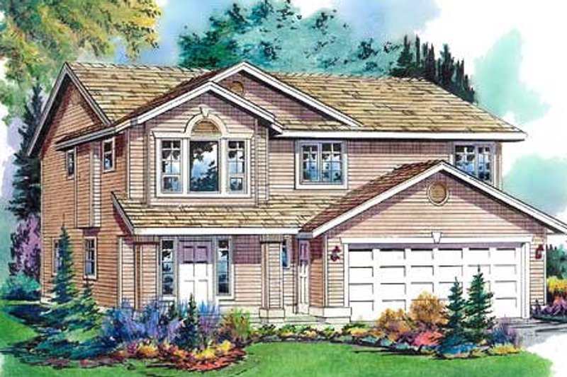 Traditional Style House Plan - 3 Beds 2 Baths 1330 Sq/Ft Plan #18-272 Exterior - Front Elevation