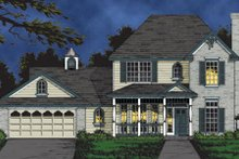 Dream House Plan - Traditional Exterior - Front Elevation Plan #40-107