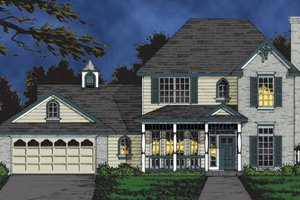 House Plan Design - Traditional Exterior - Front Elevation Plan #40-107