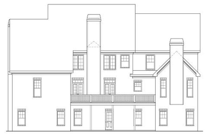 Traditional Exterior - Rear Elevation Plan #419-102 - Houseplans.com