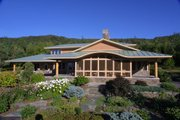 Prairie Style House Plan - 3 Beds 2.5 Baths 2979 Sq/Ft Plan #454-7 Exterior - Front Elevation