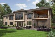 European Style House Plan - 3 Beds 2.5 Baths 3041 Sq/Ft Plan #48-672 Exterior - Rear Elevation