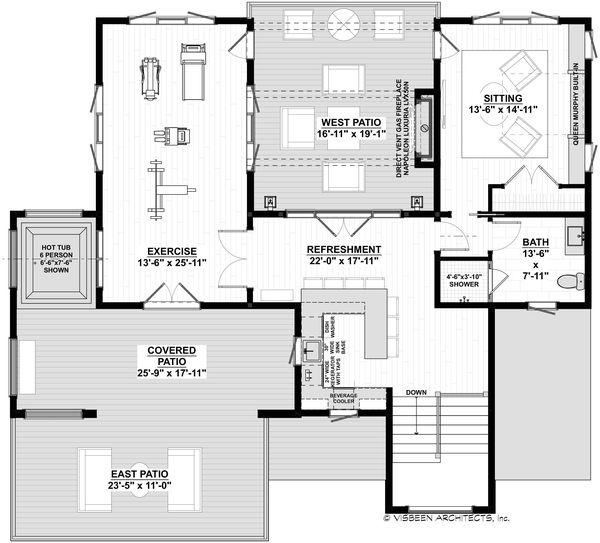 House Plan Design - Contemporary Floor Plan - Upper Floor Plan #928-352