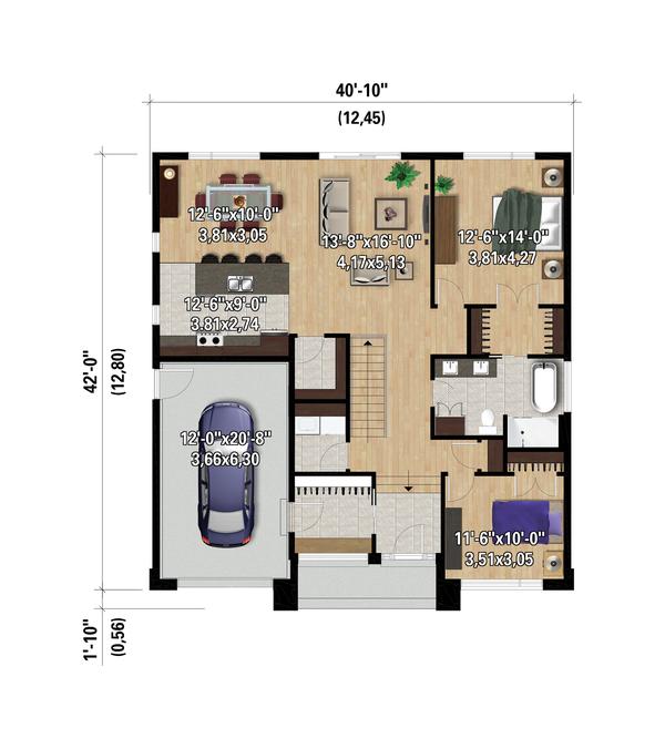 Contemporary Floor Plan - Main Floor Plan #25-4882