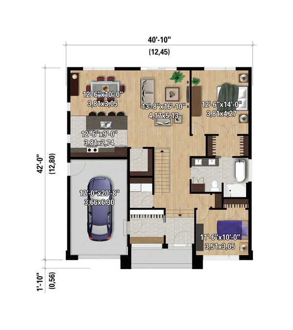 House Plan Design - Contemporary Floor Plan - Main Floor Plan #25-4882