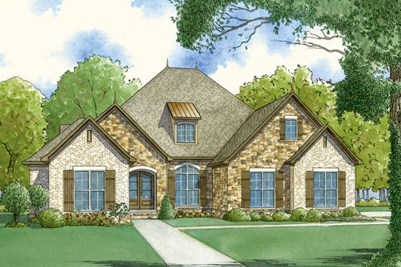 European Exterior - Front Elevation Plan #923-50